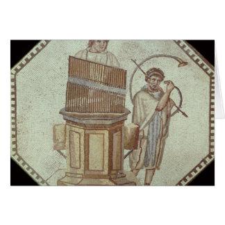 An organist and a horn player entertain card