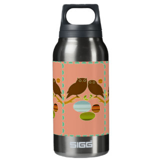 An Owl Couple Insulated Water Bottle