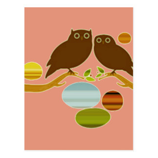 An Owl Couple Postcard