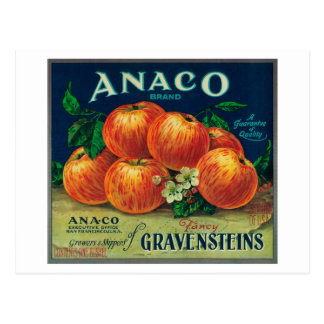 Anaco Apple Crate Label Postcards