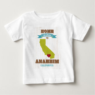 Anaheim, California Map – Home Is Where Baby T-Shirt