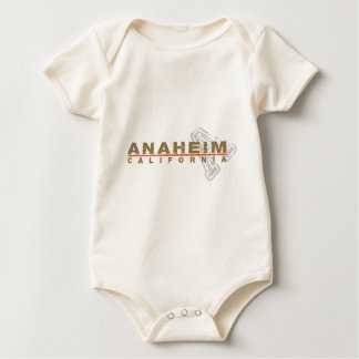 Anaheim Embroidered Look Design Baby Bodysuit