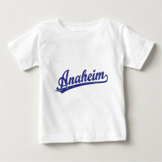 Anaheim script logo in blue baby T-Shirt