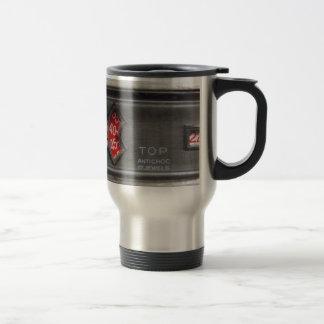 Analogue digital watch stainless steel travel mug