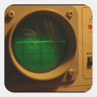 Analogue Oscilloscope 1964 Square Sticker