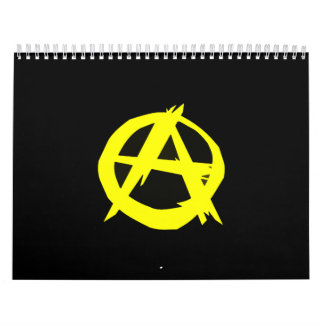Anarcho Capitalism Black and Yellow Flag Calendars