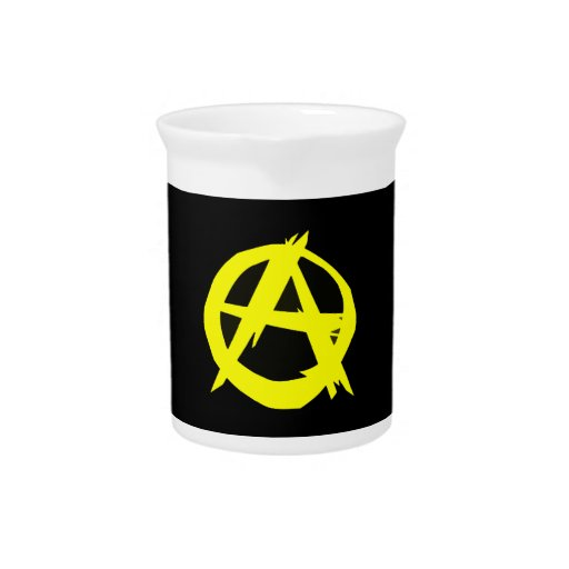 Anarcho Capitalism Black and Yellow Flag Pitcher