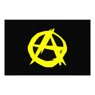 Anarcho Capitalism Black and Yellow Flag Stationery