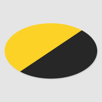 Anarcho Capitalist Flag Oval Sticker
