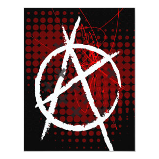 Anarchy Custom Party Invitaitons 4.25x5.5 Paper Invitation Card