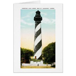 Anastasia Lighthouse Near St. Augustine, Florida Card