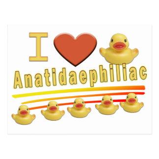 Anatidaephiliac - I LOVE DUCKS Postcard