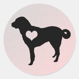 Anatolian Shepherd Dog Heart Stickers
