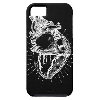 Anatomical Heart Phone Case iPhone Black & White