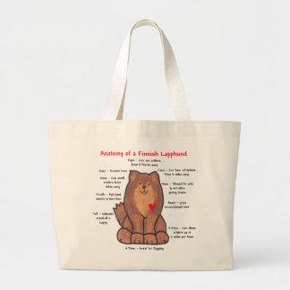 Anatomy of a Finnish Lapphund Jumbo Tote Bag
