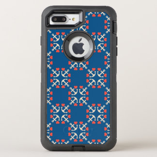 Anchor And Heart Pattern OtterBox Defender iPhone 7 Plus Case