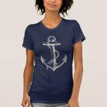 Anchor Nautical Graphic T Shirt Tee Blue White
