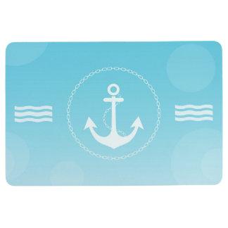 Anchor Nautical Modern Gradient Blue Floor Mat