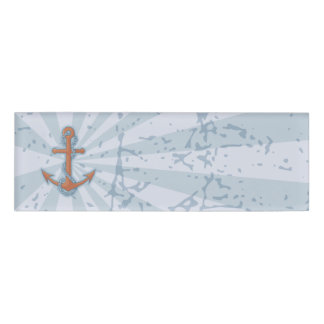 Anchor with Chain Name Tag
