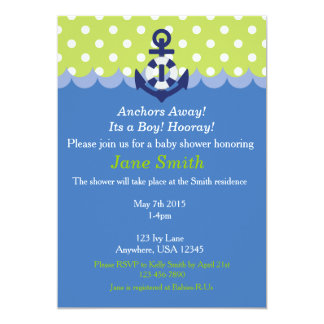 Anchors Away, It's a Boy! Hooray! Invitation