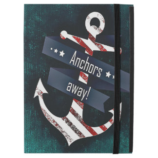 """Anchors Away Print Red White Nautical Anchor iPad Pro 12.9"""" Case"""