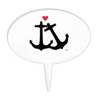 Anchors In Love Cake Picks