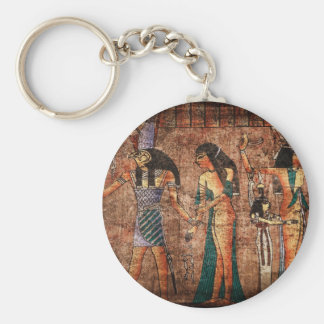 Ancient Egypt 4 Basic Round Button Key Ring