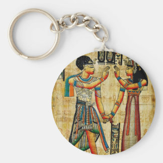 Ancient Egypt 5 Basic Round Button Key Ring