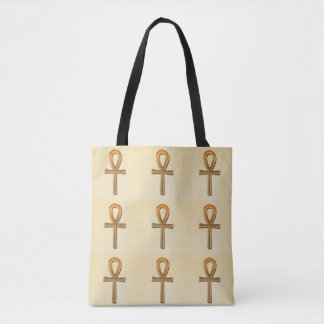 Ancient Egyptian Ankh Egypt Gold Tote Bag