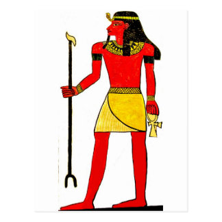 Ancient Egyptian Illustration with Key of Life Postcards