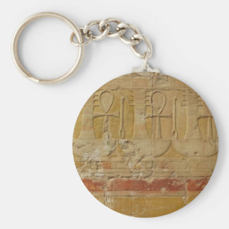 Ancient Egyptian Key Of Life Ankh Basic Round Button Key Ring