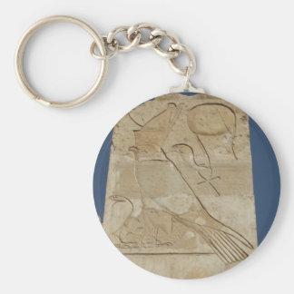 Ancient Egyptian Key Of Life Ankh with HORUS Basic Round Button Key Ring