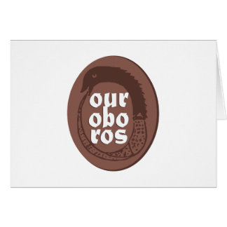 Ancient Greek Ouroboros Card
