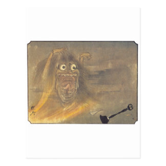 Ancient Japanese Ghost/Demon Painting Postcard