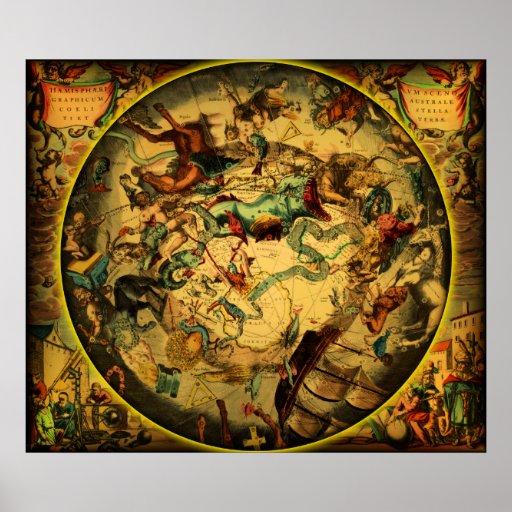 Ancient Map-1-plain Poster