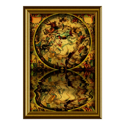 Ancient Maps -1-with-frame Print