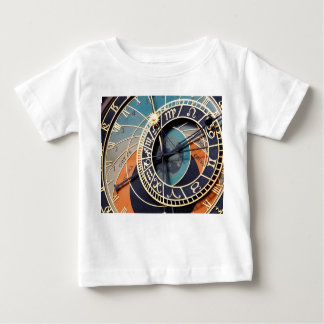 Ancient Medieval Astrological Clock Czech Baby T-Shirt