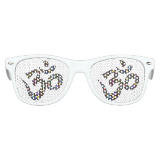 Ancient Symbol Kids Party Shades, White Kids Sunglasses