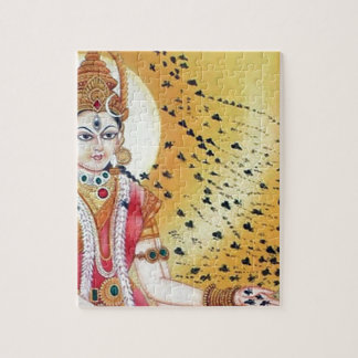 Ancient Vintage Artwork Goddess of the Honey Bees Jigsaw Puzzle