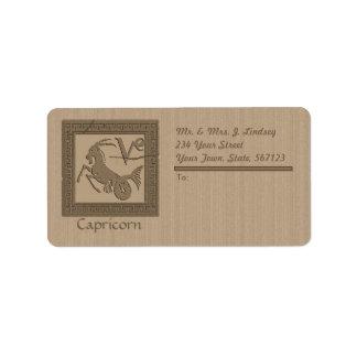 Ancient Zodiac -Capricorn Address Label