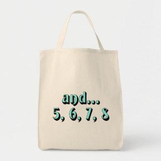 and...5, 6, 7, 8 tote bag