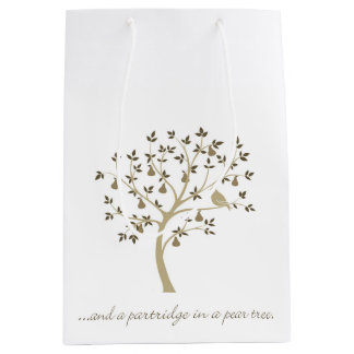 And a partridge in a pear tree medium gift bag