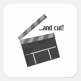 And Cut! Square Sticker