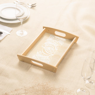 And-mark and Leaves Serving Tray Natural WT