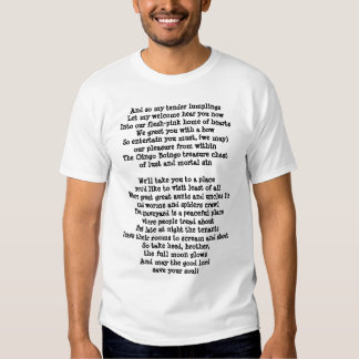 And so my tender lumplingsLet my welcome hear y... T Shirt