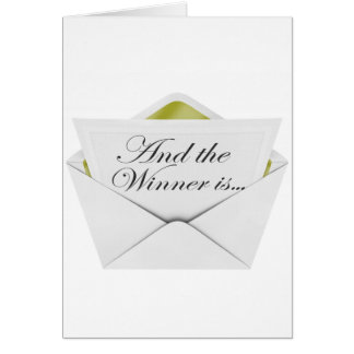 And the winner is envelope greeting card