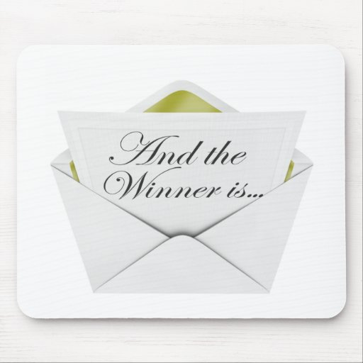 And the winner is envelope mousepad