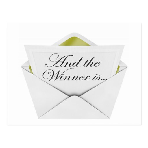 And the winner is envelope post cards