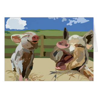"And then the farmer said... 5 "" x 7"" greeting card"