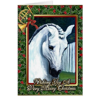 Andalusian Dressage Horse Blank Christmas Card